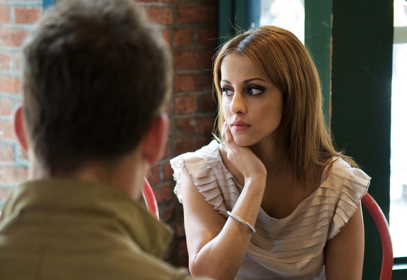 men avoiding eye contact