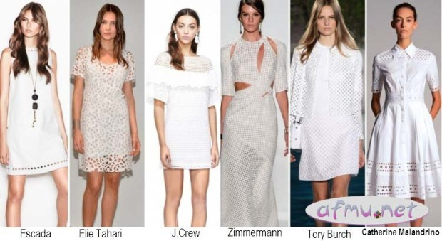 Perforated dresses
