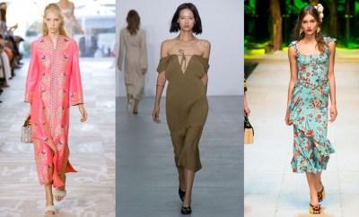 Spring-Summer dresses 2017 - night, day, maxi, midi, mini