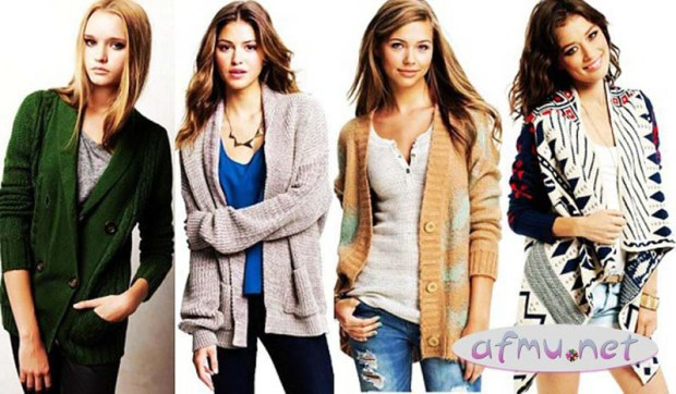 Cardigans by body shapes