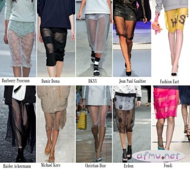 Transparent Skirts