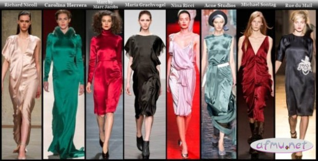 Satin dresses2