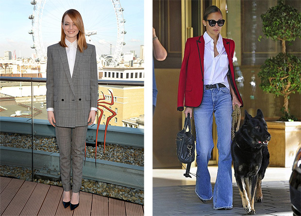 How wear a jaket Emma Stone; Nicole Richie