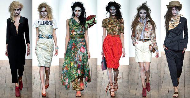 Vivienne Westwood models zombie