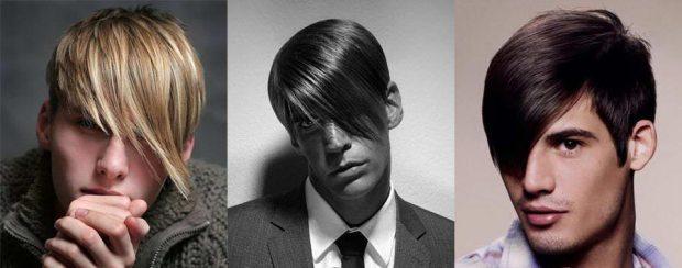 Men Asymmetric cut with bangs