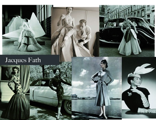 French fashion designers Jacques Fath