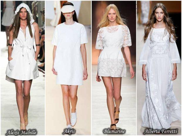 White dresses Spring 2016