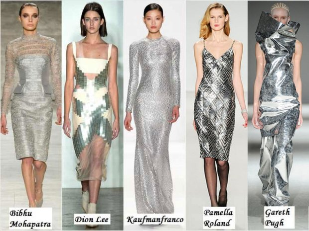 Dress in metallic shade Winter 2016