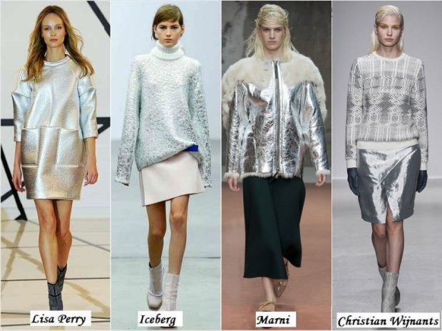 Metallic shade skirts or jackets Winter 2016