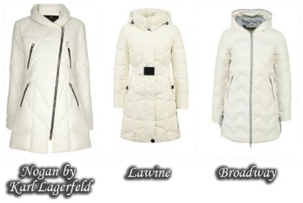 Trendy white down jackets Fall 2015 Winter 2016