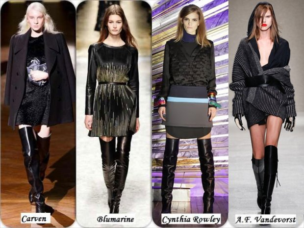 Over the knee boots What to wear in Winter 2016