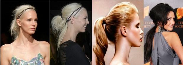 Sporty ponytails
