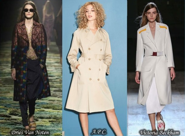 Double breasted trench coats Spring 2016