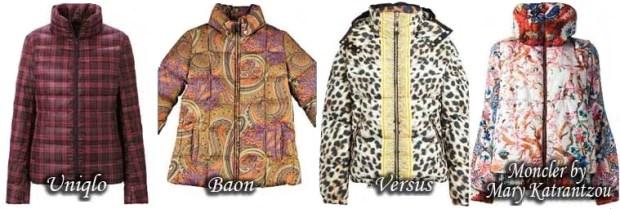 Fashionable prints down jacket Fall Winter 2015 2016