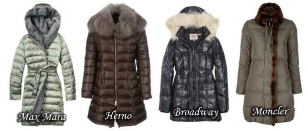 Down jackets trimmed with fur Fall Winter 2015 2016