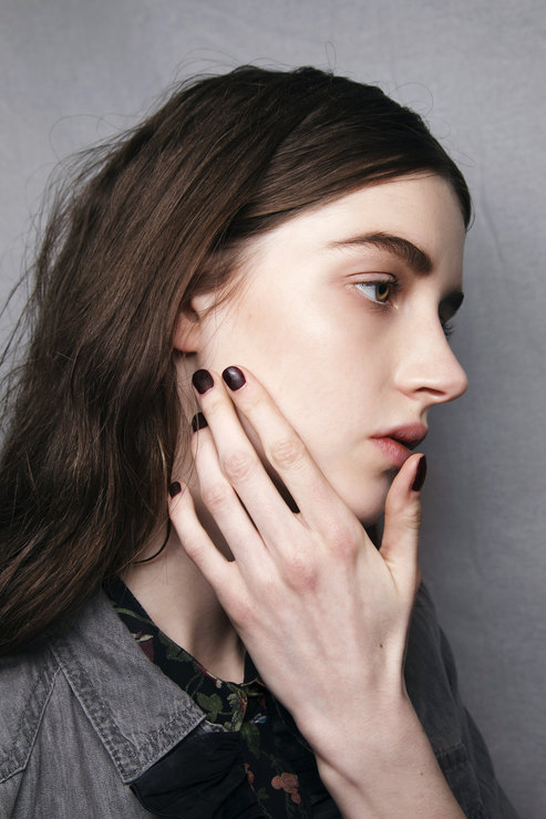 Damir Doma Dark shades manicure Fall-Winter 2015-2015