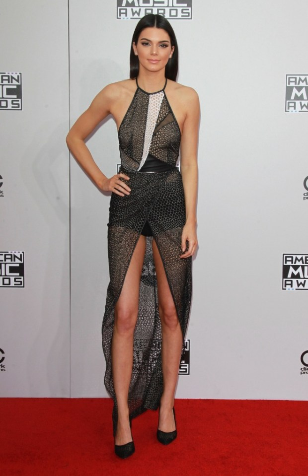Kendall Jenner outfits at American Music Awards 2015