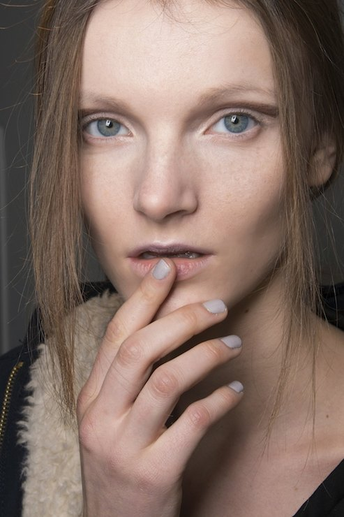 Sally Lapointe Nude manicure Fall 2015 Winter 2016