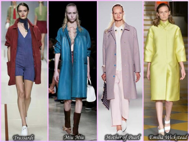 Multicolored coats Spring 2016 women