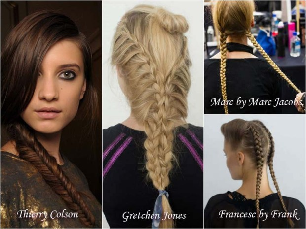 Hairstyles with braids for New Years 2016 Eve