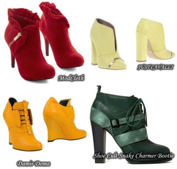 Trendy Ankle boots with high, stable heel Spring 2016