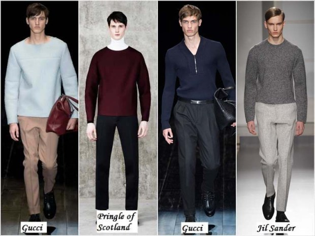 Simple lines in clothes for men Winter 2016