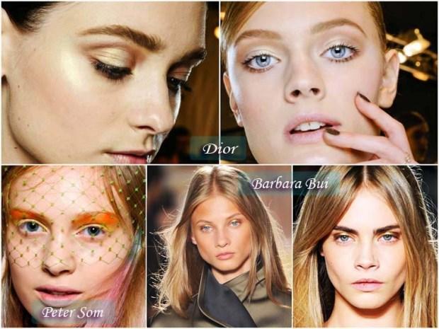 Gold bronze shades makeup New Year 2016