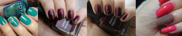 Dark shades of nail polish