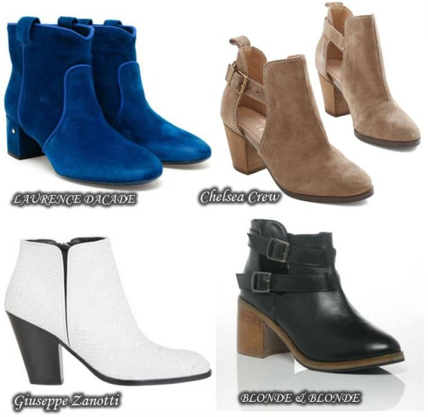 Fashionable Low heeled ankle boots Spring 2016