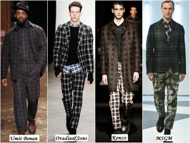Clothes with checks for men Winter 2016