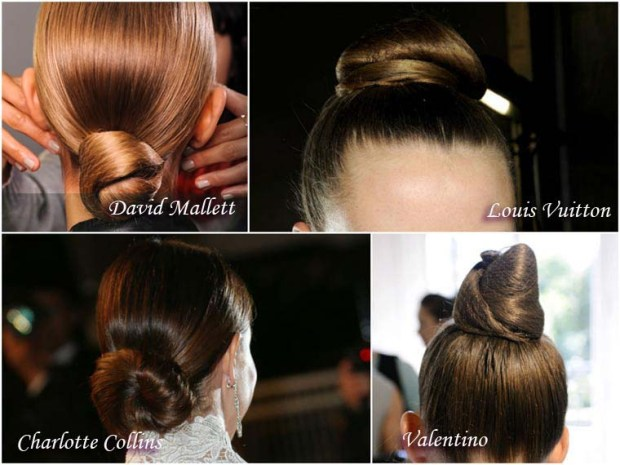 Classic bun hairstyle for New Year 2016
