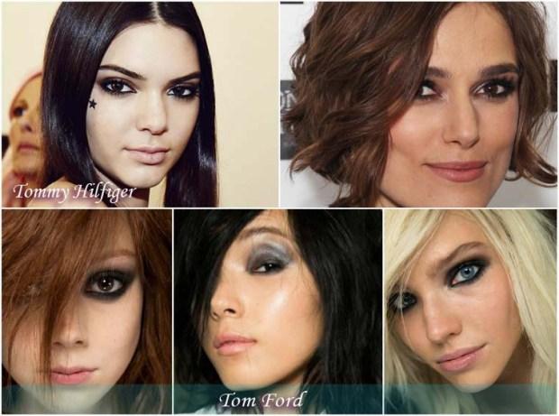Smoky eyeshadows makeup New Year 2016