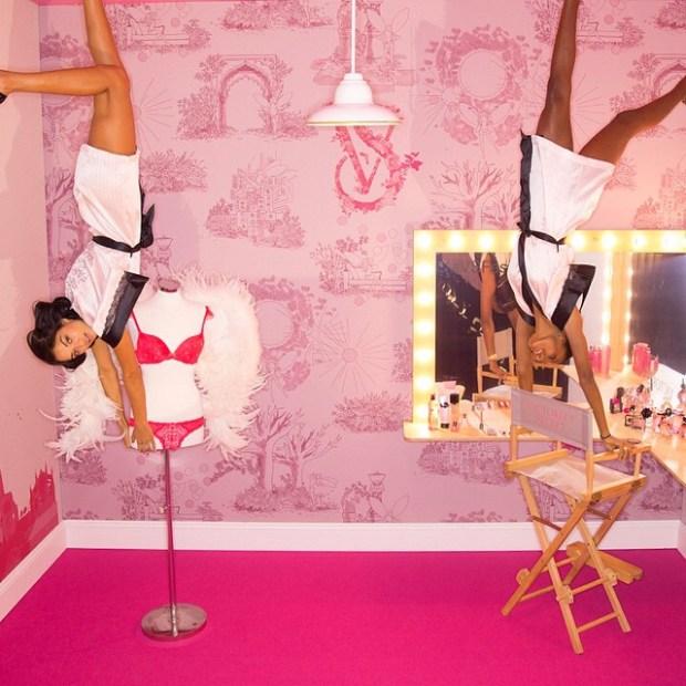 Shanina Shaik and Jasmine Tookes Victoria's Secret show London 2015