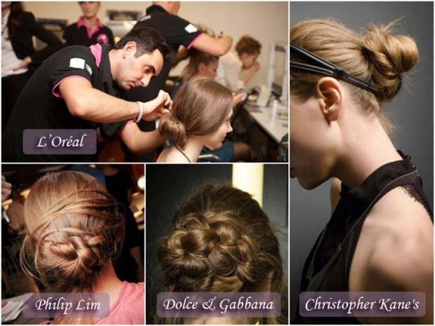 Careless bun hairstyle