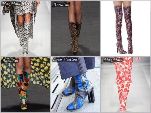 Boots with trendy prints Spring 2016