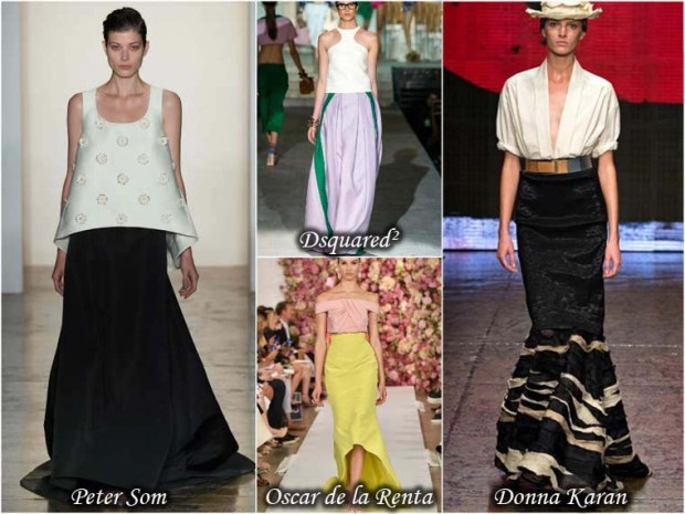 Floor length maxi skirts Spring 2016