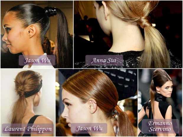 Classic ponytail hairstyles New Year 2016