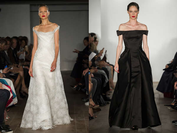 Black and white eveningdresses