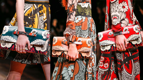 Clutch bags with prints