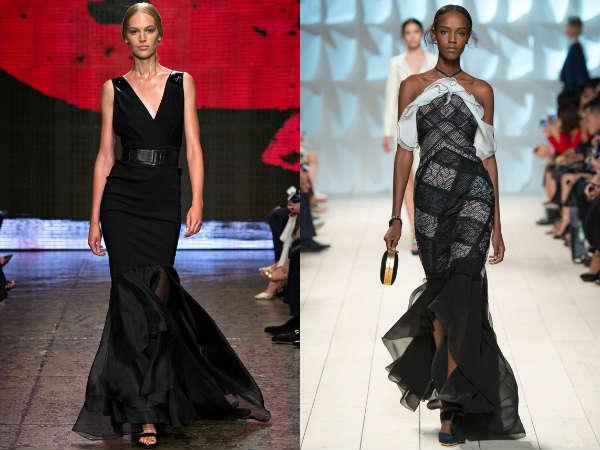 Ladies black evening dresses