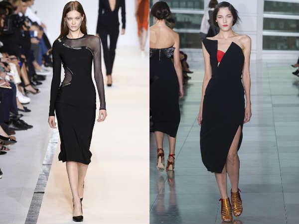 black asymmetric Spring-Summer dresses 2016