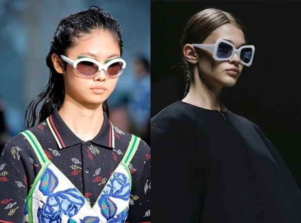 Sunglasses 2019 summer spring with white frames