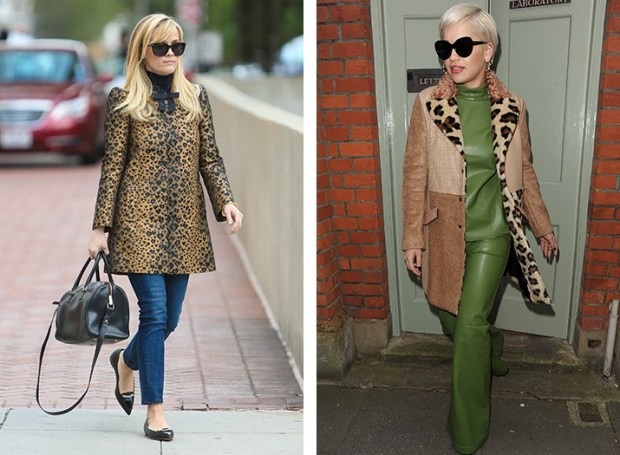 Reese Witherspoon and Rita Ora in leopard print