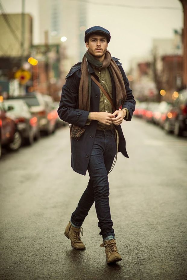 How to wear scarves for men