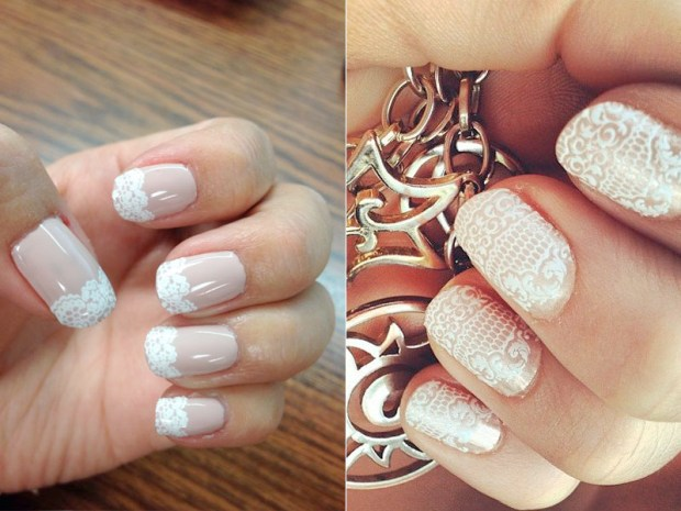 Wedding lace nails 2016