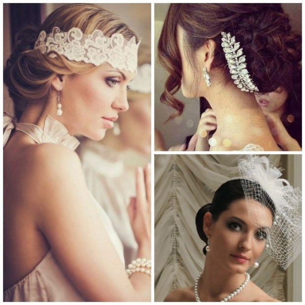 Wedding hairstyles with accessories