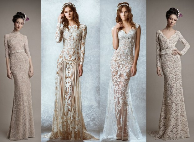 Trendy wedding dresses with patterns