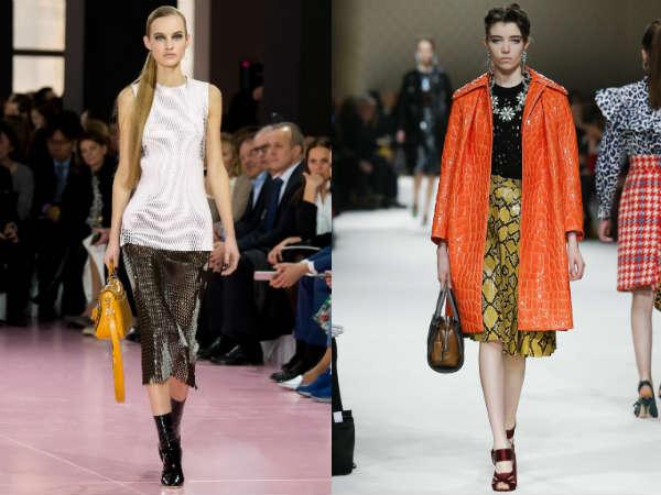 Snake print skirt fall-winter 2016 2017