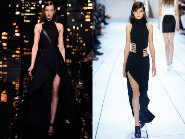 Asymmetric elegant evening gowns