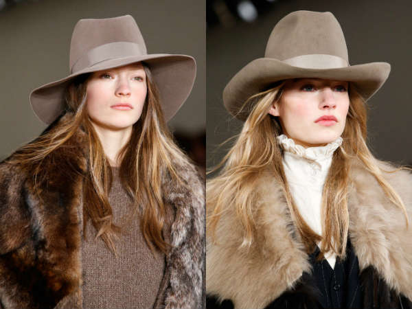 Ralph Lauren wide-brimmed hats